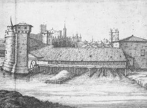 moulin noir et blanc