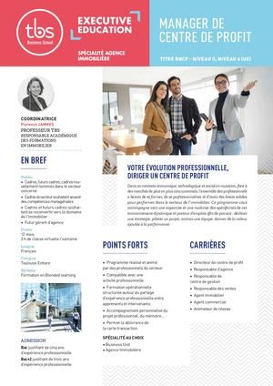 Manager Centre De Profit Agence Immobiliere