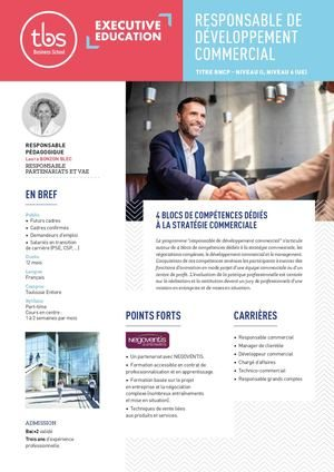 Responsable Developpement Commercial
