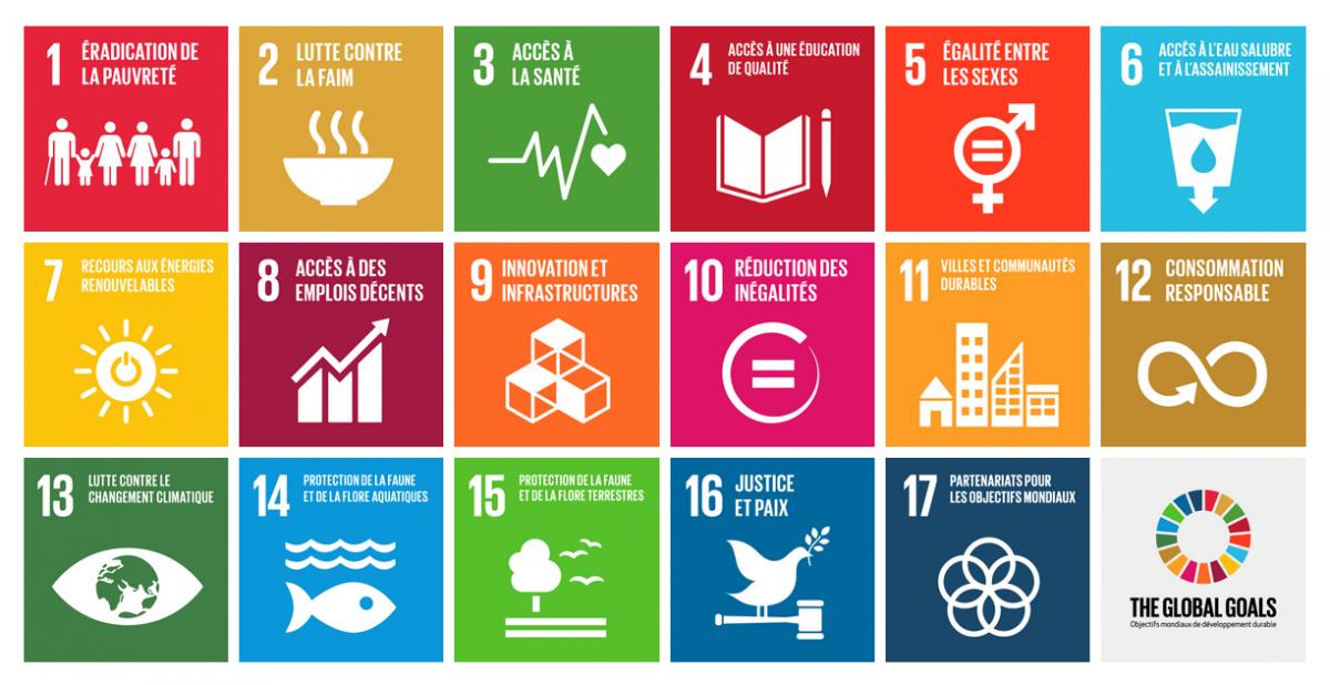 17 Objectifs du Développement Durable