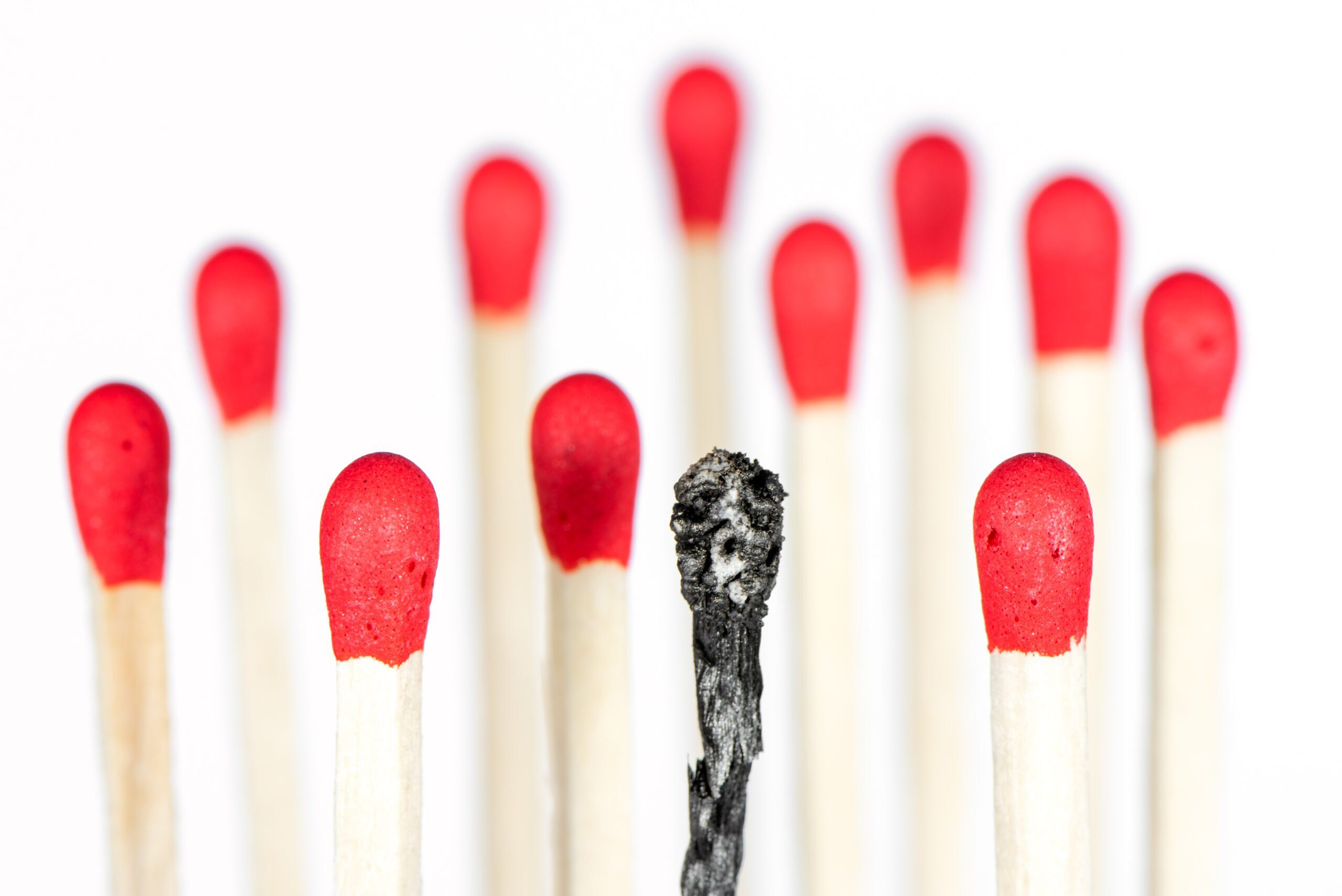 Burnout,symbolically,represented,with,matches